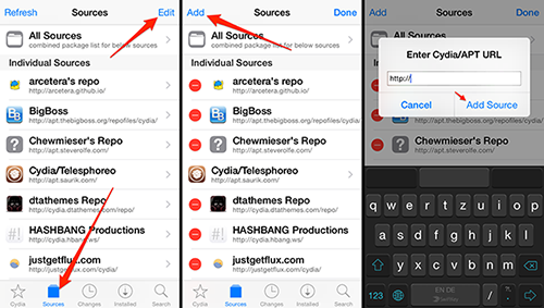 how to add cydia sources to cydia