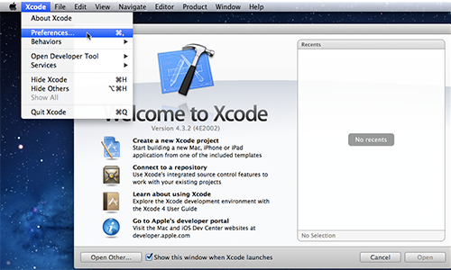 Xcode-Preferences