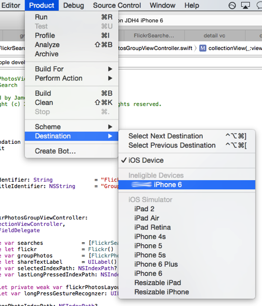 xcode-Product-Destination
