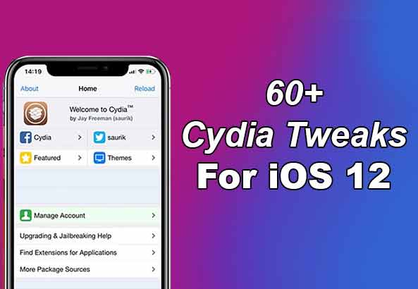 60+ Best Cydia Tweaks For iOS 12 iPhone and iPad [Latest